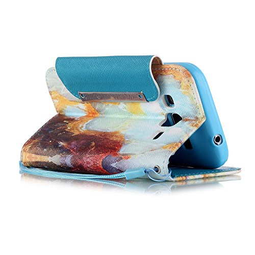 nancen Apple iPhone 4/4S (3,5 pollici) Custodia Custodia in pelle PU Bookstyle Case Smartphone Cover a Libro, nove stile premium versione migliorata chiusura magnetica [lunga chiusura] – Cover di prot choi shek