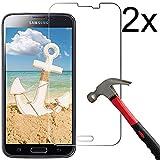 Vada-Tec | 2X bruchsicheres Panzerglas für Samsung Galaxy S5 Next Generation| Schutzfolie aus 9H Echt Glas