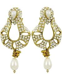 0fd615698419 diseñador de la india falsa perla cuelga el pendiente conjunto bollywood  mujeres novia pendiente regalo de