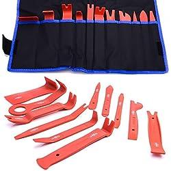 DWT-Germany - Kit de pièces de montage et démontage pour habitacle de voiture - Kit de montage pour habillage intérieur, rembourrage, finitions, leviers, outils de démontage d'éléments clipsés