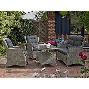 Amazon.de: Gartenmöbel Set Como-6 Tisch ausziehbar