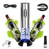 Aitsite Tire Bouchon vin électrique ouvre-vin électrique et Rechargebale Ensemble Ouvre-Vin Électrique Acier Inoxydable et sans Fil avec Base Rechargeable
