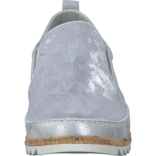 Pistone di signore Jana 8-24600-212 grigio / argento in pelle intercambiabili grau