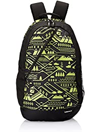 Gear 22 LTR Black and Green Casual Backpack (BKPCMPUS10103)
