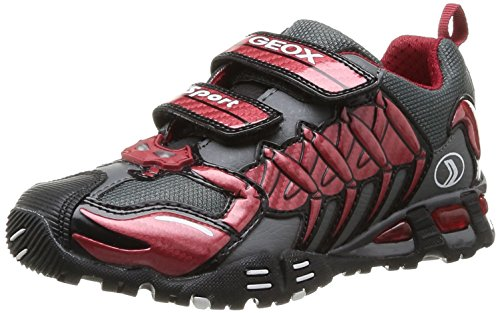 Geox - Sneaker, Bambino Red/Dark Grey