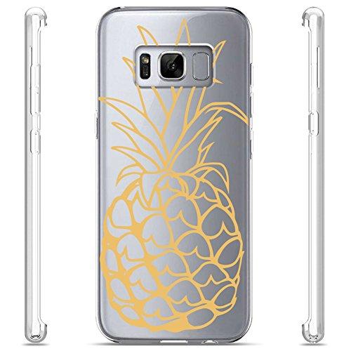 andy Hülle, TPU Schutzhülle Tasche Case Cover, Kratzfest Weich Flexibel Silikon für Samsung, Ananas, Handy:Samsung S5;Motivdatenbank:Ananas (Ananas-symbol)