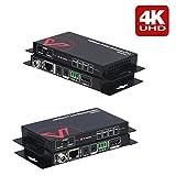 HDMI Extender (HDBaseT),4K60Hz über Einzige CAT5e/6/6a/7 Ethernet Kabel,HDR,PoE,Bidirektional IR...