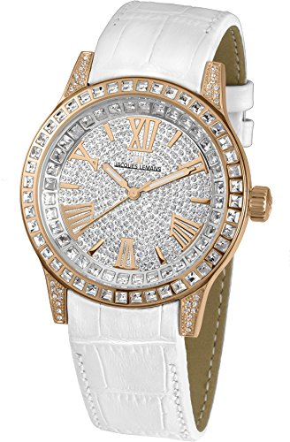 Jacques Lemans Ladies Watch Porto 1–1798C Analogue Display and Gold Leather