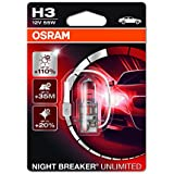 OSRAM NIGHT BREAKER UNLIMITED H3 Lampe Halogène 64151NBU-01B 12V Blister Individuel