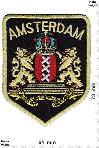 Preisvergleich Produktbild Patch - Amsterdam - Wappen - Länder Patch - Aufnäher Embleme Bügelbild Aufbügler