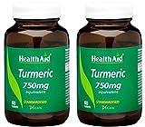 (2 Pack) - HealthAid - Turmeric (Curcumin) 750mg   60