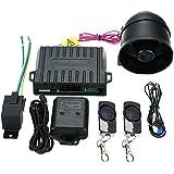 Steelmate 838N - Sistema de Alarma 1 Vías para Coche Cierre Central y Ventana Cercana Voz Alerta Anti-secuestro con 2 Transmisor Fibra de Carbono