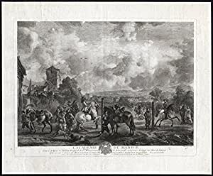 Master Antique Motif-ACADEMY-MANEGE-Cheval-FALCONRY-Moyreau-Wouwermans - 1742