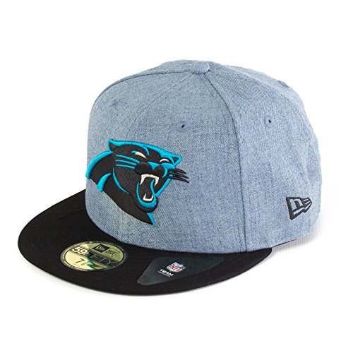 New Era Herren Caps / Fitted Cap Heather Team Carolina Panthers 59Fifty blau 7 1/8 - 56,8cm -