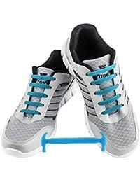 official photos 277ef c24b4 WELKOO® Lacets Elastiques en Silicone Sans Lacage Etanche pour Chaussure  Adultes   Enfants -16pcs
