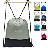 ZOMAKE Cordón Mochila Bolsa Sackpack Impermeable Deporte Gimnasio Saco Bolsas de Cuerdas Gymsack Backpack para Hombre y Mujer(Gris)