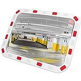 PrimeMatik - Konvexen Spiegel Sicherheit Signalisierung rechteckigen 80x60 cm