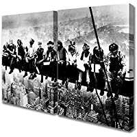 Two Panel Lunch Atop Of A Skyscraper The Muppets Canvas Art Prints - Extra Large 32 x 64 inches