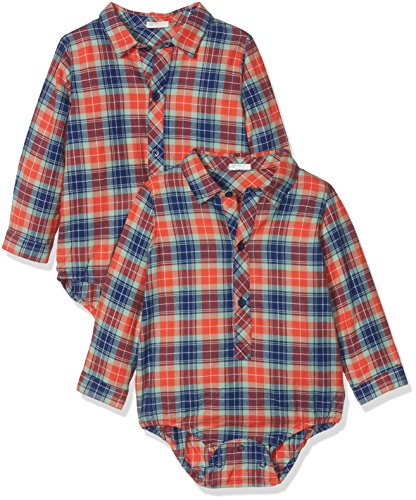 United Colors of Benetton United Colors of Benetton Baby-Jungen Hemd Shirt, Rot (Red Check 901), 56