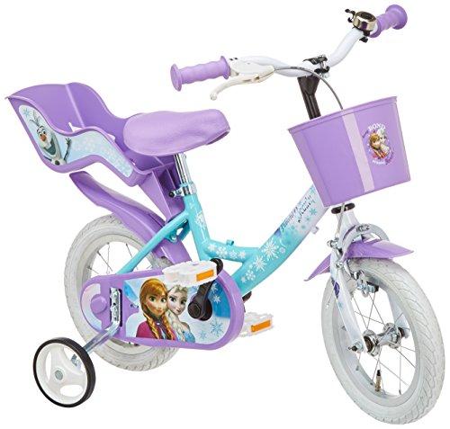 Disney Mädchen Frozen Fahrrad mit Metallkugellagern für Kinder, Weiß/Lila/Hellblau, 12 Zoll, 126RSK FZT