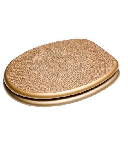 Sanilo WC Sitz mit Absenkautomatik Crystal Gold | hochwertige Oberfläche | einfache Montage | stabile Scharniere   A642880