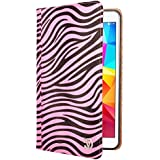 VanGoddy Mary Portfolio Self Stand Case with Sleep Mode for Samsung Galaxy Tab 4 8.0 T331 (Pink Zebra Print)