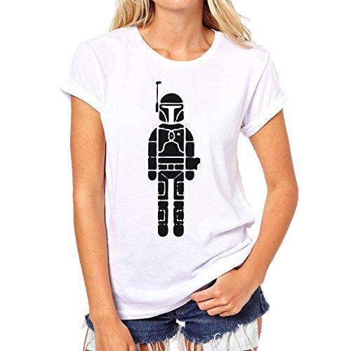Star Wars Trooper Art Black And White Damen T-Shirt Weiß