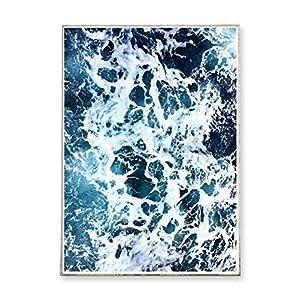 DIN A3 Kunstdruck Poster WAVES °4 -ungerahmt- Meer, Ozean, Strand, Wellen, Brandung, Küste, Landschaft, Luftaufnahme