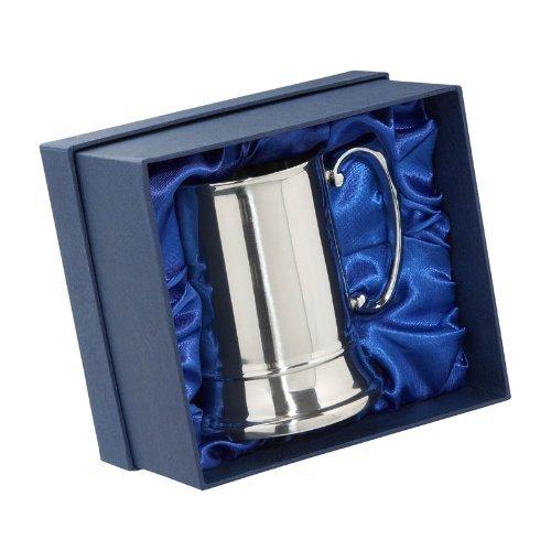 Acciaio inossidabile 1 Pint Tankard in scatola di presentazione - Cavaliere Marca