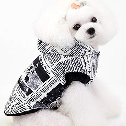 Katze Grimmige Kostüm - Fenverk Hundekleidung Für Kleine Hundepullover Hund Kleidung Herbst Winter Haustier Katze Hundebekleidung Sweater Warm Kapuzenjacke Hundemantel(A Weiß,XXL)