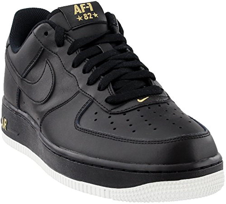 Nike Schuhe  Air Force 1 '07 Schwarz/weissszlig/Golden Größe: 42.5