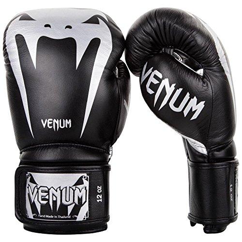 Venum Giant 3.0 Boxhandschuhe Muay Thai, Kickboxing, Schwarz / Silber, 10 oz
