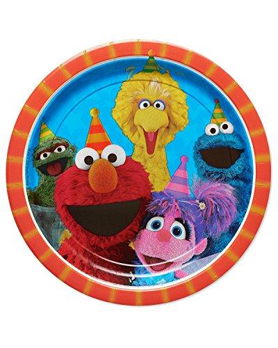 American Greetings Sesame Street 9 Round Plate (8 ()