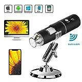 WiFi USB-Mikroskop, Wireless-Digitalmikroskopkamera Mit WiFi-Funktion, 1080P HD 2MP 50x Bis 1000x Verstärkung , Für Android, IOS, Smartphone, Tablet, Witwen.