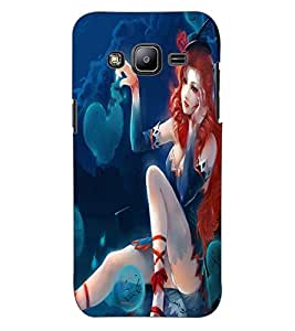 ColourCraft Fantasy Girl Design Back Case Cover for SAMSUNG GALAXY J2 DUOS
