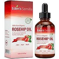 Aceite de Rosa Mosqueta (120ml). Aceite orgánico certificado. Prensado en frío y sin refinar. 100% puro y natural.