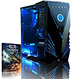 Vibox VBX-PC-5362 Ultra 11A Gaming Desktop-PC (AMD A Series A8-7600, 8GB RAM, 1TB HDD, AMD Radeon R7, kein Betriebssystem) blau
