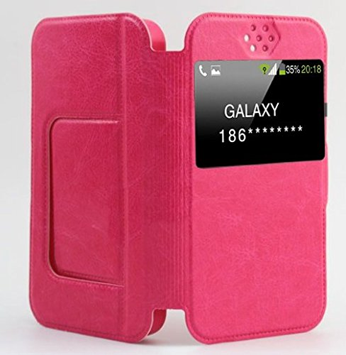 Shopme Premium PU Leather Flip cover for Karbonn titanium S1 Plus (360 degrees protection, foldable flip, caller id, rotating stand for watching movies)(PINK COLOR)  available at amazon for Rs.199
