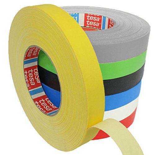 Tesa 4651 Premium Gewebeband verschiedene Breiten und Farben wählbar / gelb 19 mm x 50 m