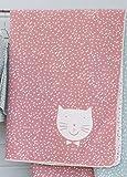David Fussenegger - JUWEL - Kinderdecke mit Hülle - Katze - rot - 140 x 200 cm