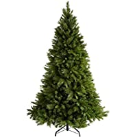 WeRChristmas Victorian Pine Christmas Tree with Easy Build Hinged Branches - 7 feet/2.1 m, Green