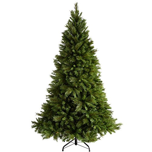 werchristmas victorian pine christmas tree with easy build hinged branches 7 feet21 m green - Realistic Christmas Trees
