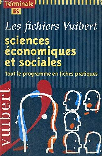 Fichier sciences économiques et sociales, terminale ES