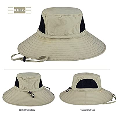 EINSKEY Sun Hat Summer Outdoor UV Protection Beach Hat Wide Brim Bucket Hat Foldable Safari Boonie Hat Waterproof Fishing Hat with Adjustable Chin Straps (More Colors) by EINSKEY