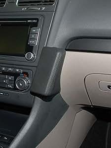 KUDA Telefon Konsole passend für VW Golf VI ab 10/08 Variant ab 09/09 Mobilia / Kunstleder schwarz