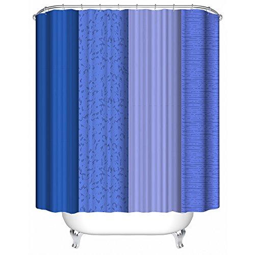 """YAOFUTEE Duschvorhang Dekor,Marineblau Stripes vertikalen Hintergrund Design Wasserdichtes Mehltau Polyester Gewebe Duschvorhang Badezimmer 36"""" x 72""""(90x180)"""