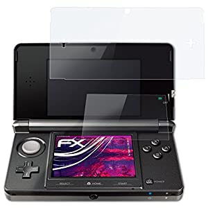 atFoliX Glasfolie kompatibel mit Nintendo 3DS 2011 Panzerfolie, 9H Hybrid-Glass FX Schutzpanzer Folie (1er Set)