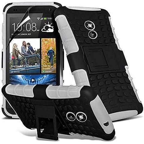 HTC Desire 610 Super calidad plàstico con atril + lápiz + Protector de pantalla Gadget Giant (a prueba de golpes - rebajándose - cubierta - duro - altillano -
