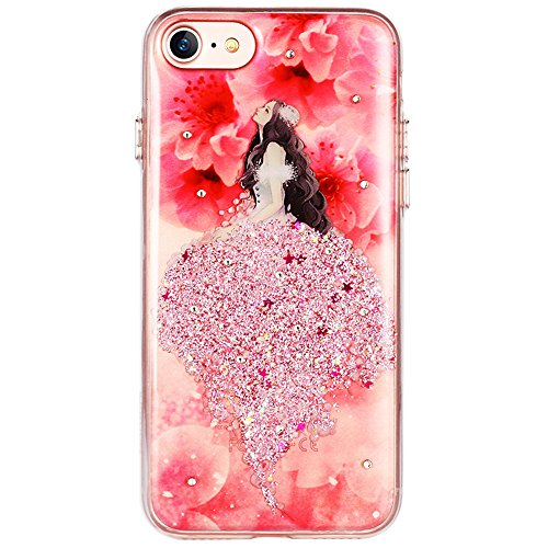 Coque iPhone 7 Plus (5.5), Sunroyal® TPU Soft Crystal Bling Etui Housse Premium Ultra Mince Transparente Beau Fille Diamant Strass Protection Bumper pour Apple iPhone 7 Plus (5.5 pouces) 2016 - Jaune Robe