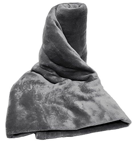 Luxus Weich Glatt Grau Fleece flauschig Kunstfell Rolle Bett Decke Sofa Nerz, Fleece, grau, King (200cm x 240cm)